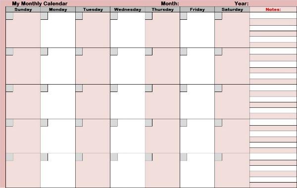 monthly planning calendars - Maggilocustdesign