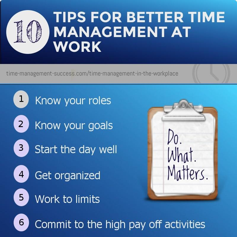 Time Management Success - work tips