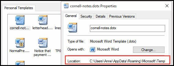 Create Cornell Notes Template in Word Productivity Portfolio - Notes Template Word
