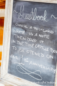 Time Capsule Ideas for Couples -- Guest Sign In