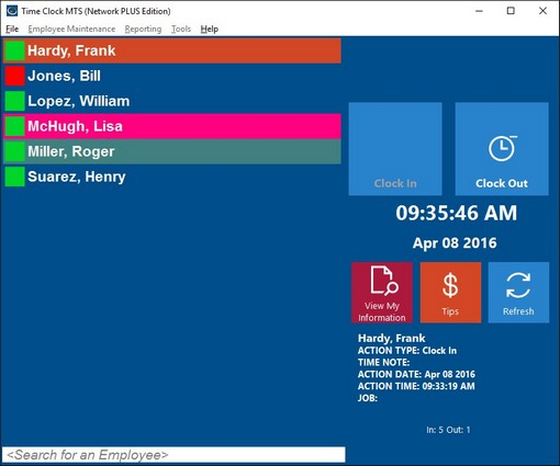 Time Clock MTS Great Employee Time Clock Software
