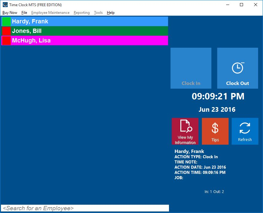 Free Employee Time Clock Software - Time Clock MTS
