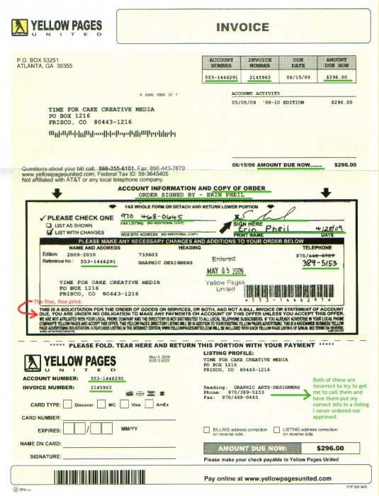 Scam Alert of the Week Yellow Pages United SCAM