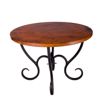 Wrought Iron Milan Dining Table - Round by Mathews & Co.