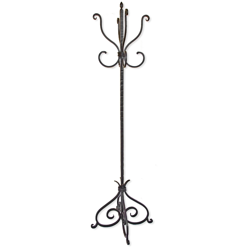 Wrought Iron Alexander Standing Coat Rack By Mathews Co