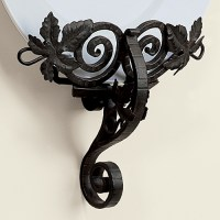 Wrought Iron Grape Leaf Wall Mounted Plate Holder by ...