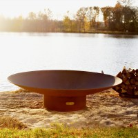Asia 60 inch Outdoor Fire Pit atistically Hand-crafted by ...