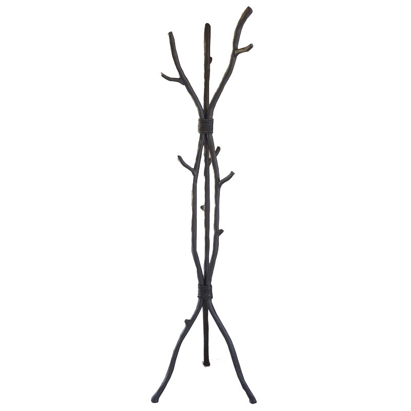Wrought Iron South Fork Standing Coat Rack Handmade By
