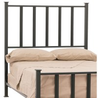 Wrought Iron Mission Headboard by Stone County Ironworks