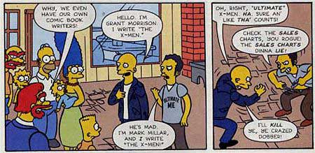 image from the simpsons comic with grant morrison and mark millar
