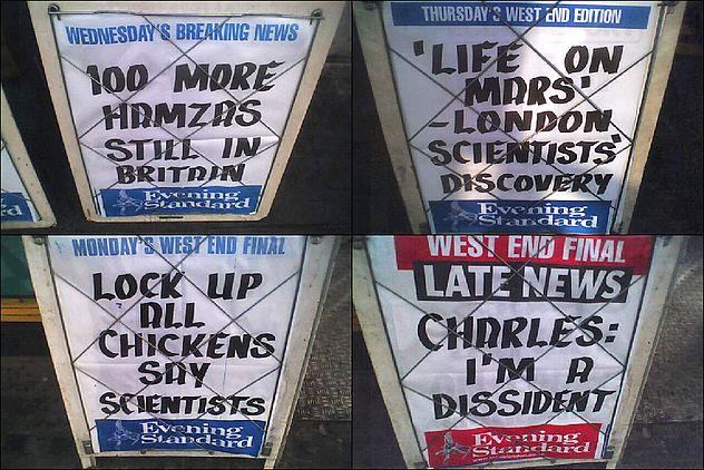 Evening Standard Billboards: February 2006