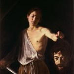 David with Goliath's head, by Caravaggio