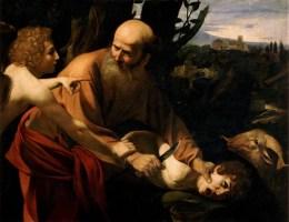 Caravaggio's version of Abraham's sacrifice