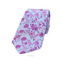 TimGarner.co.uk | | Woven Silk Tie - Blue Pink and Purple ...