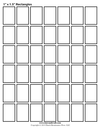 Rectangle Templates - 1 Inch - Tim\u0027s Printables - rectangle template