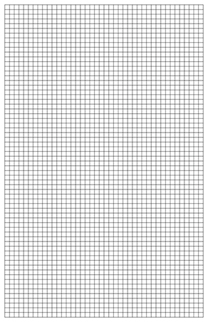 Graph Paper Template, 11x17 Tabloid Printable PDF - math grid paper template