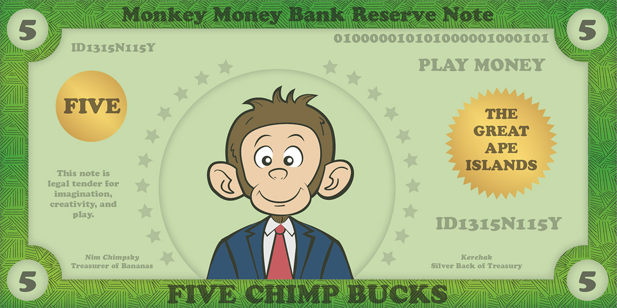 Printable Play Money for Kids  Play Money Template - Money Games