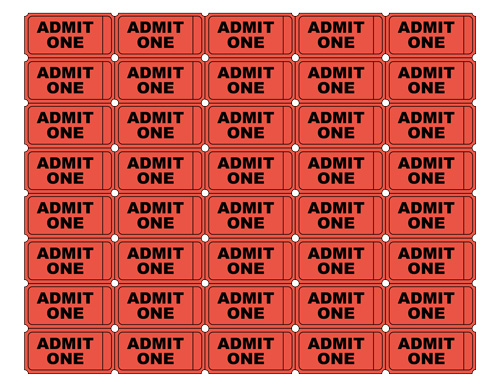 Free Printable Admit One Ticket Templates - Blank Downloadable PDFs