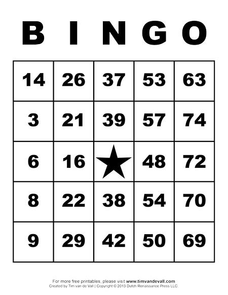Blank Bingo Template - Tim\u0027s Printables - blank bingo card template