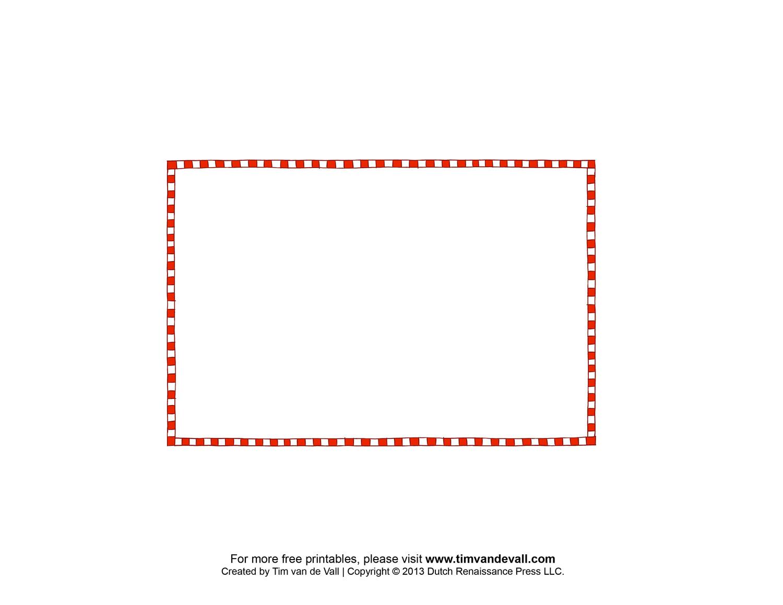 Free Printable Postcard Border Template Postcard Outline
