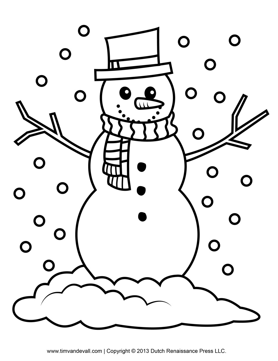 Snowing christmas decoration let it snow - Snowing Christmas Decoration Let It Snow Free Snowman Clipart Template Amp Printable Coloring Pages Download