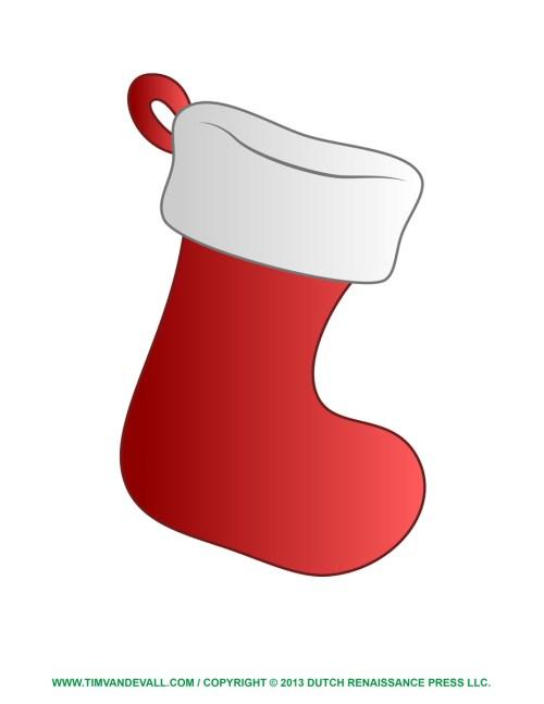 Medium Of Christmas Stocking Template