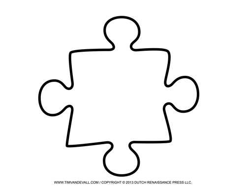 Blank Puzzle Piece Template - Free Single Puzzle Piece Images PDF - puzzle piece template