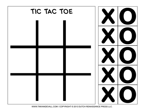 Free Printable Tic-Tac-Toe Templates Blank PDF Game Boards - tic tac toe template