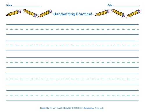 Printables Handwriting Practice Worksheet Lemonlilyfestival