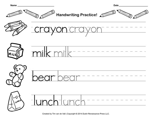Free Worksheets Letter A Handwriting Worksheets Kindergarten – Printable Handwriting Worksheets