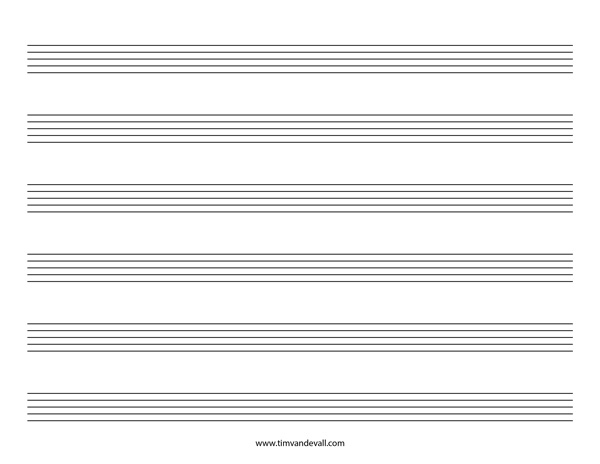 music staff pdf - Tomadaretodonate - music staff paper template