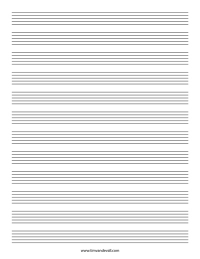 Staff Paper 10 Stave – Music Paper Template