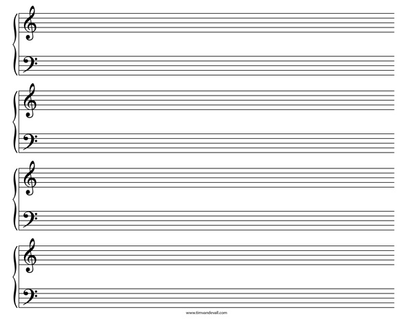 printable musical staff paper - Acurlunamedia - music staff paper template