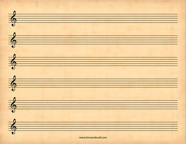 music paper treble clef 3slufsluidsprekers
