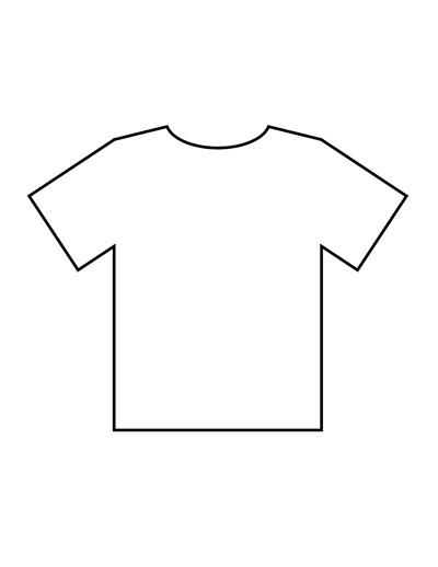 Blank T Shirt Templates PDF - t shirt template