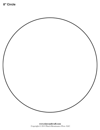 Circle Template - 8 inch - Tim\u0027s Printables