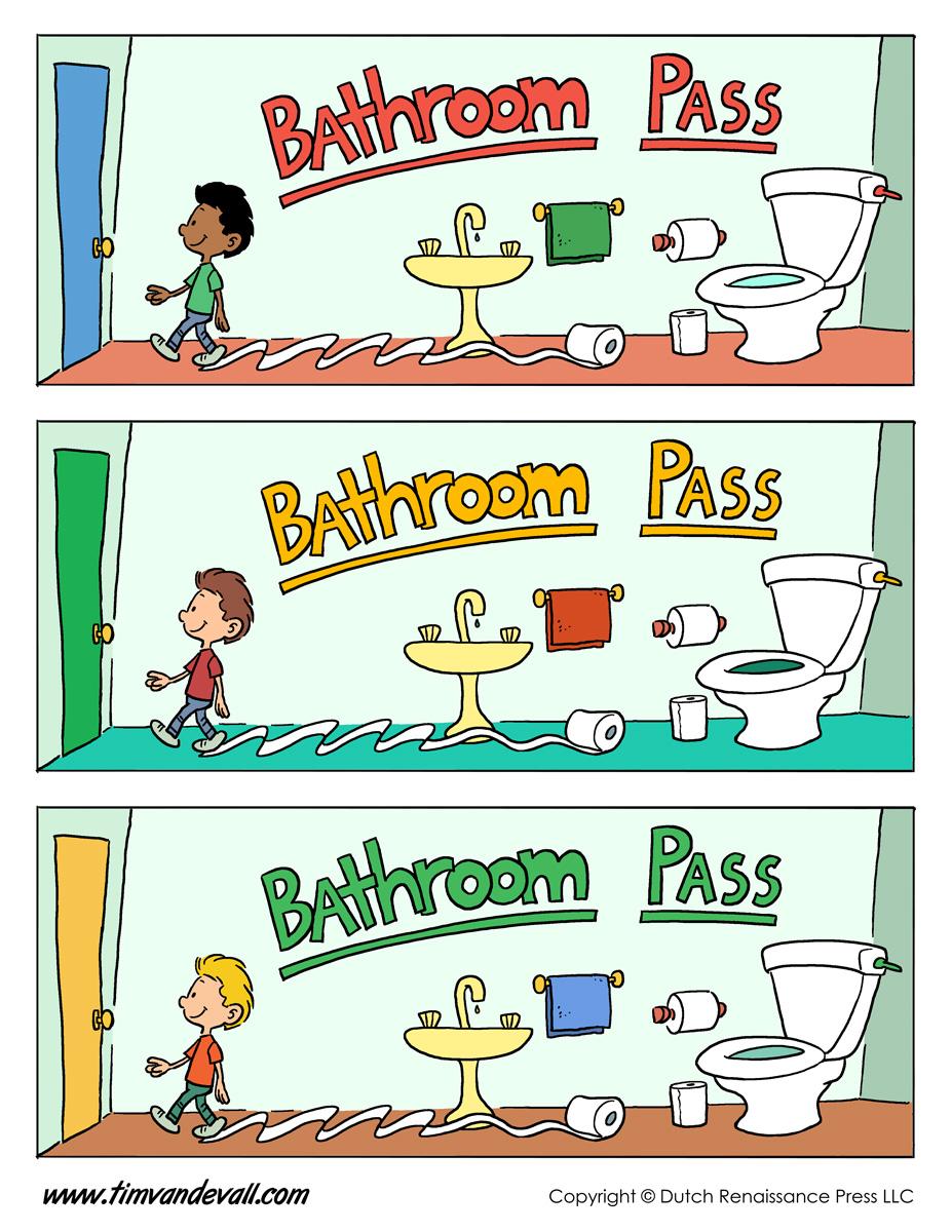 printable bathroom passes