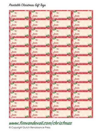 Free Printable Christmas Gift Tag Templates - gift tag template
