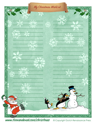 Christmas-Wishlist-02-1 - Tim\u0027s Printables