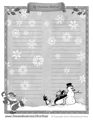 Printable Christmas Wishlist Template for Kids - Kids Christmas List Template