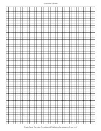 Graph Paper Template, 85x11 Letter Printable PDF - Graph Paper Template