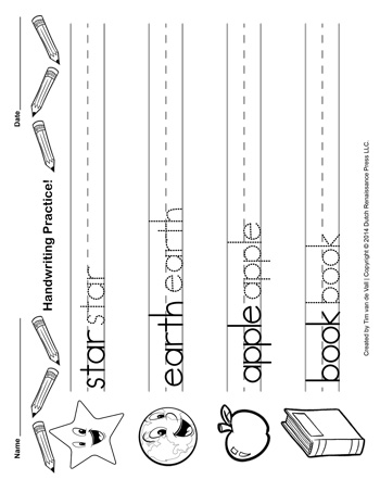 Handwriting Paper Template #8 - Tim\u0027s Printables - handwriting paper template