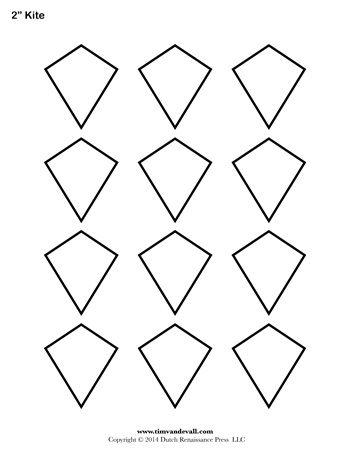 Kite Templates - 2 Inch - Tim\u0027s Printables