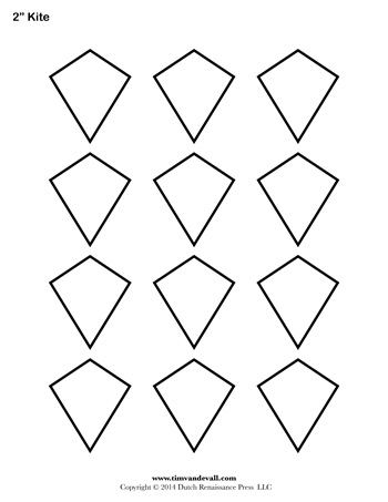 Kite Templates - 2 Inch - Tim\u0027s Printables - kite template