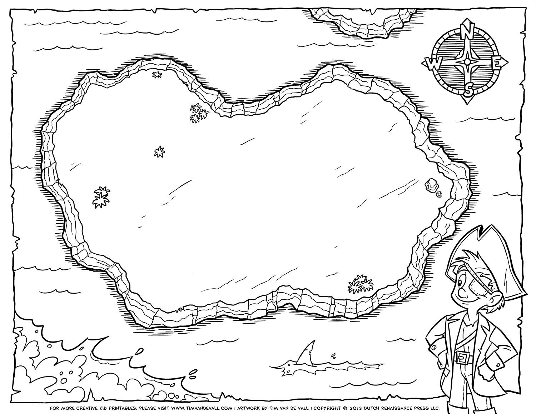 Blank Pirate Map Template Erieairfair