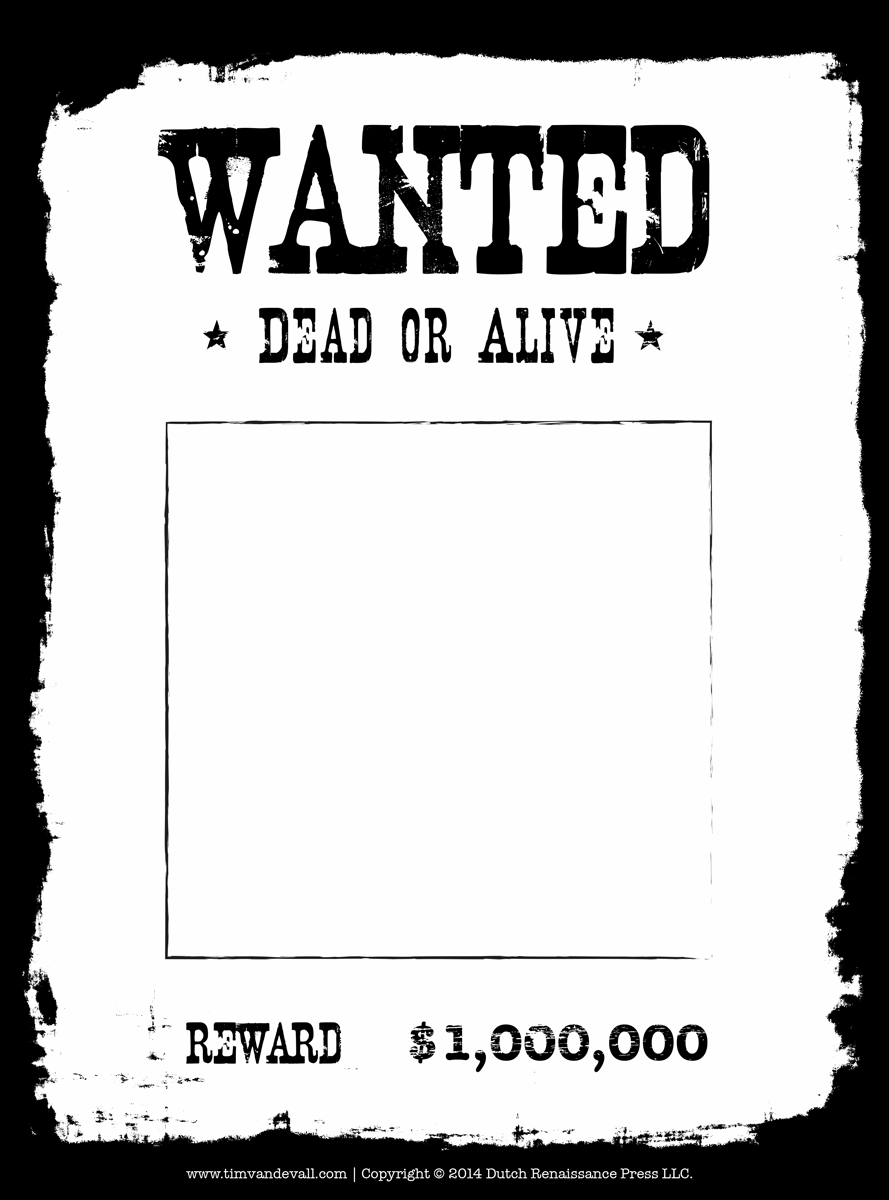 most wanted poster template – Wanted Poster Examples