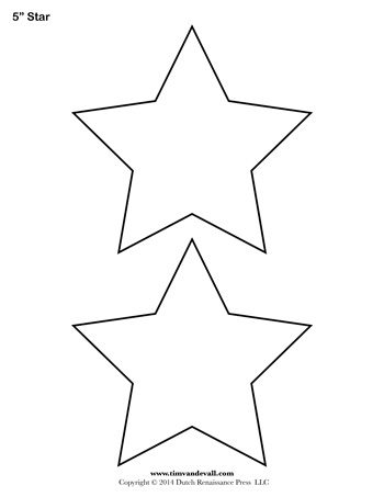 Printable Star Templates Free Blank Star Shape PDFs - star template