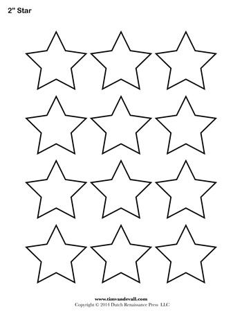 Star Template - 2 Inch - Tim\u0027s Printables - stars template