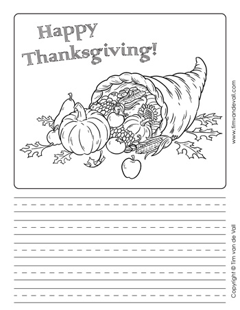 Printable Thanksgiving Writing Paper Templates - Free Writing Paper Template