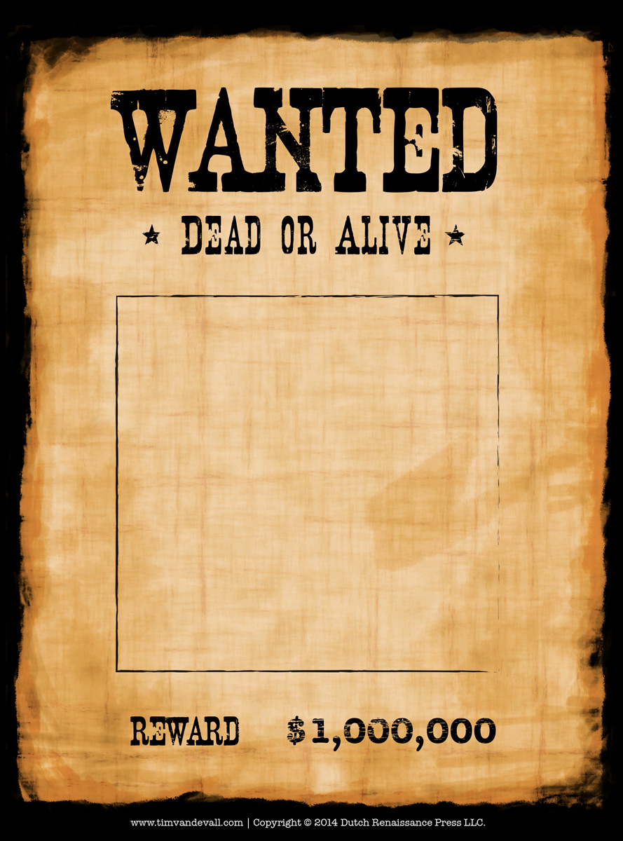 wanted poster template microsoft word – Western Poster Template